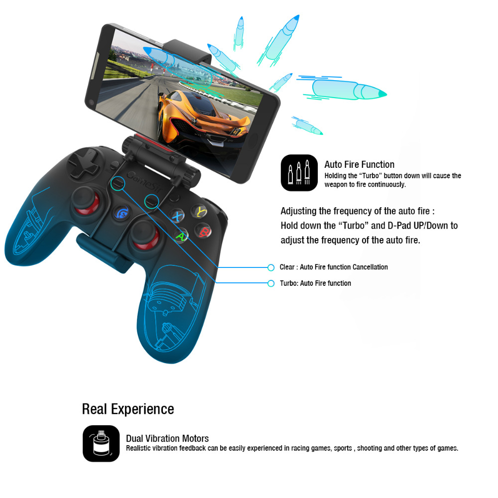 GameSir G3s Mobile Legende/AOV Bluetooth 2,4G Verdrahtete Gamepad Controller für Android TV BOX Smartphone Tablet PC Getriebe VR-in Gamepads aus Verbraucherelektronik bei  Gruppe 1