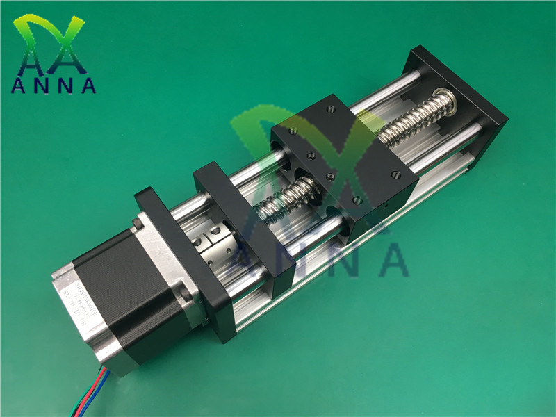 Haute précision GGP 400MM vis à billes 1204 1605 1610 glissière Rail Guide linéaire Table mobile + 1Pc Nema 23 moteur 57 moteur pas à pas