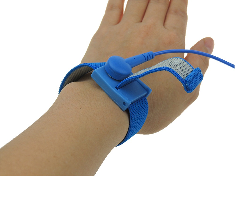 ESD Wrist Strap Fabric High Quality ABS Anti allergic Wrist Band Strap With 1.8meter Earthing Ground Antistatic Wrist Strap