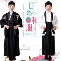 Японское традиционное кимоно для мальчика халат костюм японский летний студенческий Костюм Униформа Ткань Кимоно
