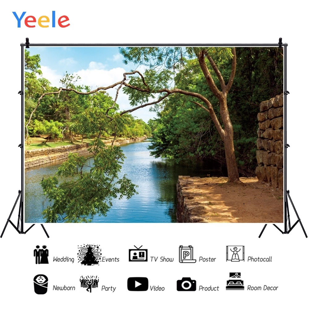 Yeele Landscape Photocall River Forest Stones Decor Photography Backdrops Personalized Photographic Backgrounds For Photo Studio in Background from Consumer Electronics