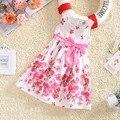 Children Kids Girls Sleeveless Dress Floral Bow Party Dress Sundress Costume NEW&72