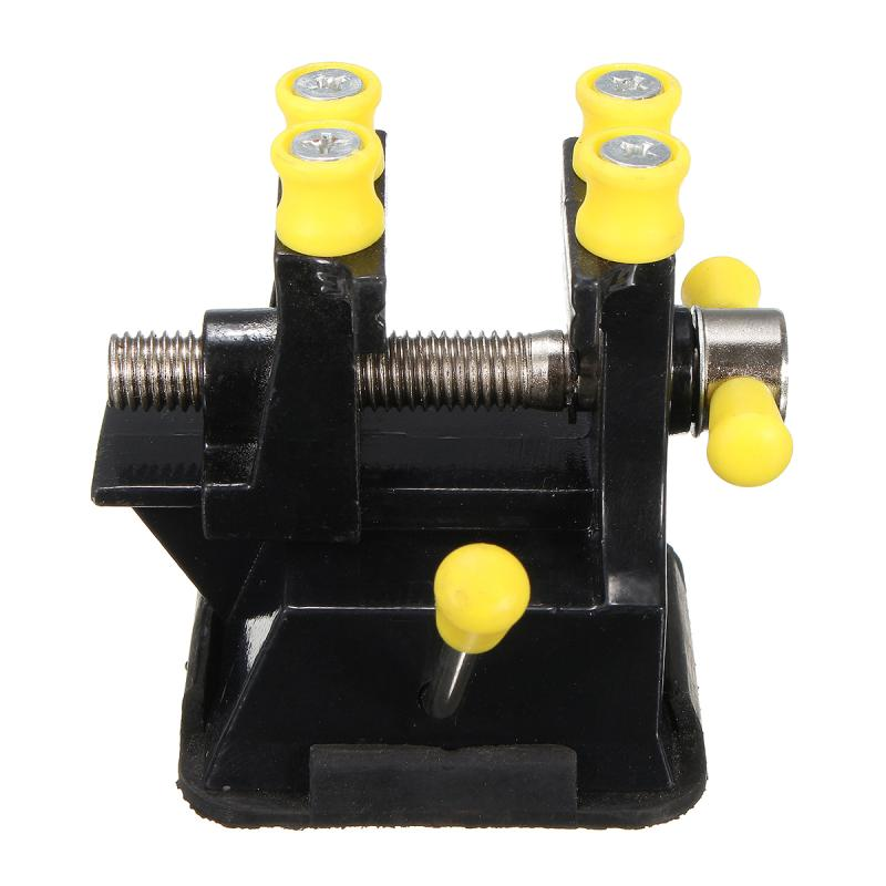 Practical Mother Day Gift Desktop Bench Vise Aluminium Alloy Carving Bench Clamp Walnut Clamp with Suction Strip Engraving Tools