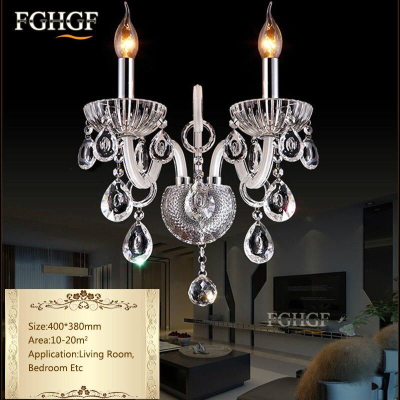 Роскошные бра Освещение европейском стиле настенные светильники Кристалл Топ K9 лампа ночники кристалл лампы для спальни