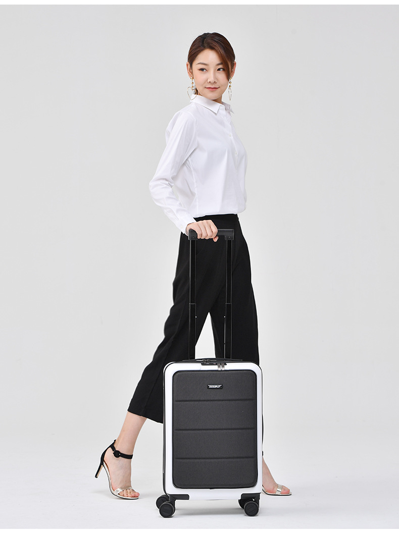 Casual Travel Trolley Luggage Aluminum Frame Alloy Business Rolling Luggage Airplane Suitcase Spinner Wheels 20inch (4)