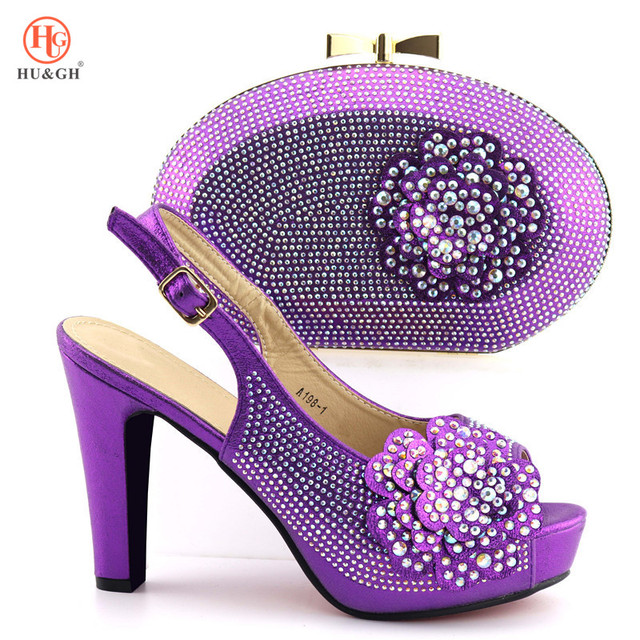 2019 New Italian Shoes With Matching Bag Set Italy African Women Party Shoes and Bag Set Women Sandals And Handbag For Wedding