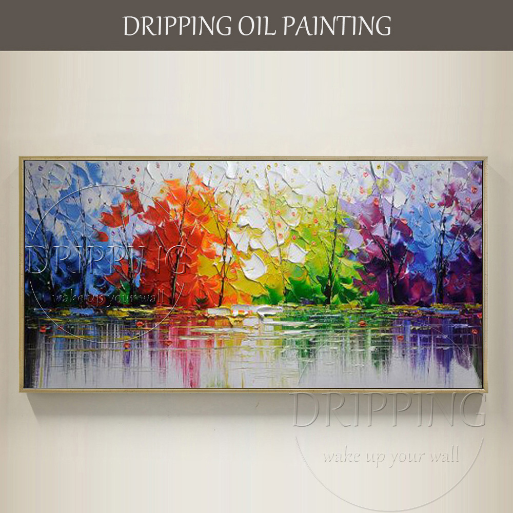 Professional Artist Hand Painted High Quality Abstract: Excellent Artist Hand Painted High Quality Rich Colors