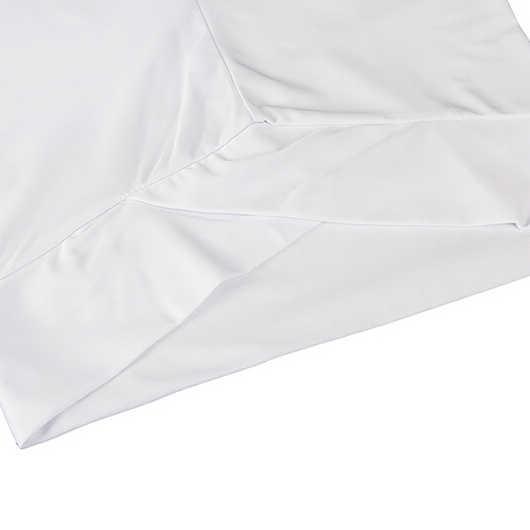 HEIßER Reine Farbe Frauen Hohe Taille Leggings Fitness freizeit Hosen-Weiß, S