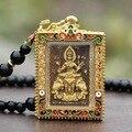 Gold Thailand buddha pendant plah keang erawan shrine pendant phra phrom necklace