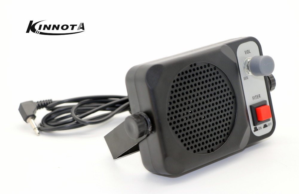 KINNOTA TS-650 Mini External Speaker ts650 For Yaesu Kenwood ICOM Motorola Ham Radio CB Hf Transceiver Car Walkie Talkie