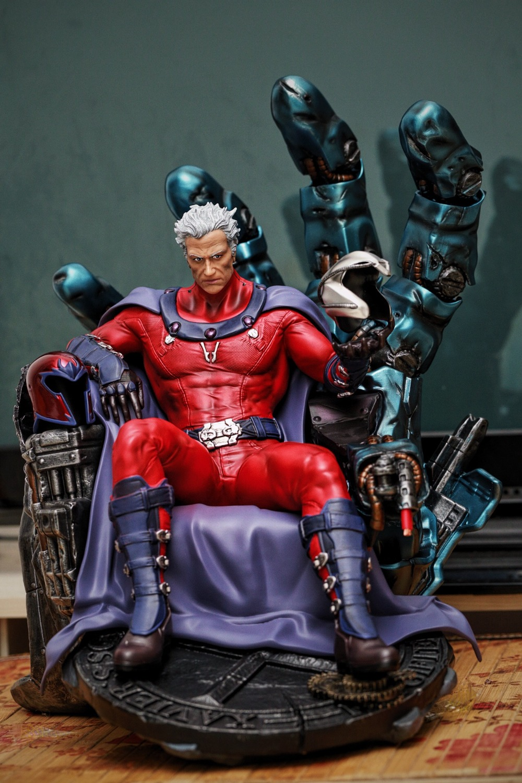 Nouvelle Collection de Dollars 1/4 Échelle X-Hommes Résine Magnéto Statue Refonte Haute Qualité