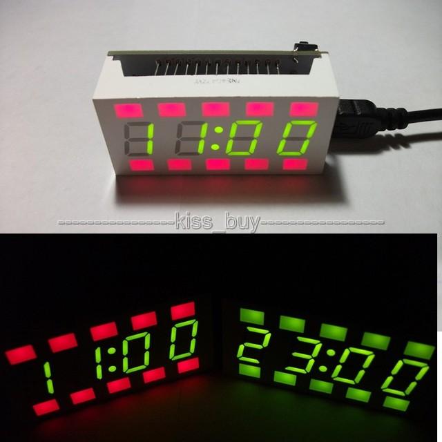Mini CRE 51 SCM DIY Red & Green design eletrônico LEVOU Alarme Relógio digital Desktop tempo