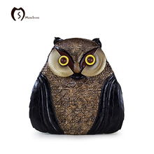 MORESHINE Brand Design Vintage Women Owl handbags 3D Printting Pattern shopper bag Female Leather Multi-function Back pack&Tote
