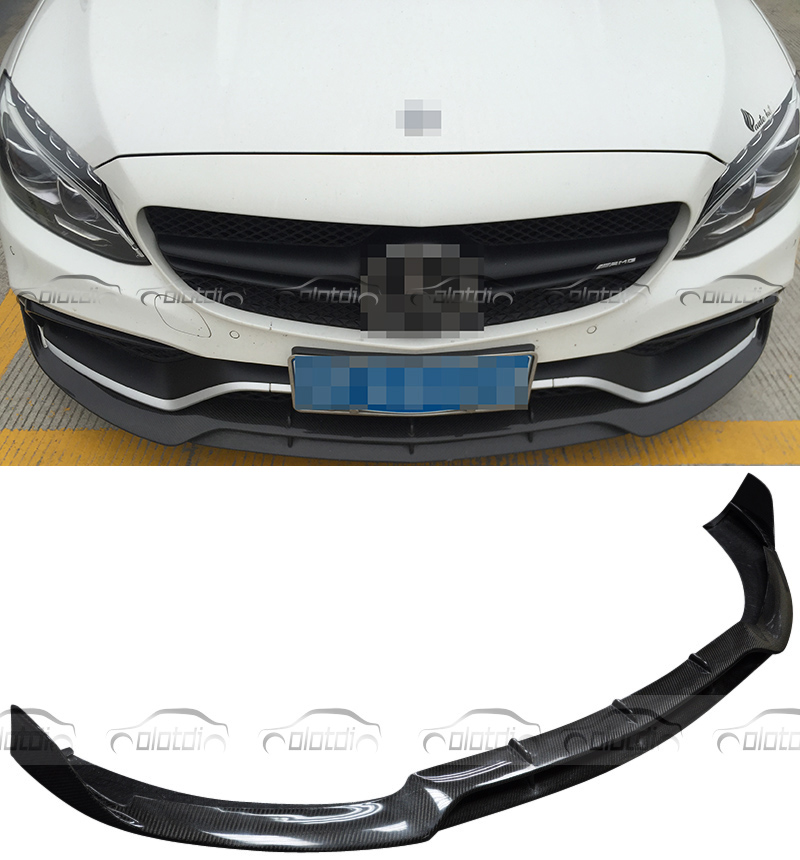 For Mercedes Benz W205 C63 AMG Sedan For Brabus Style Front Lip 2015 2016 Real
