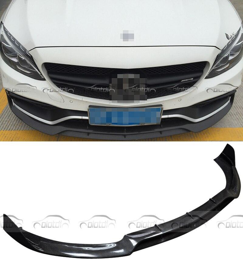 B Estilo Frente Lip 2015-2016 Real da Fibra do Carbono Pára Divisor Dianteiro Para Mercedes Benz AMG W205 C63 Só