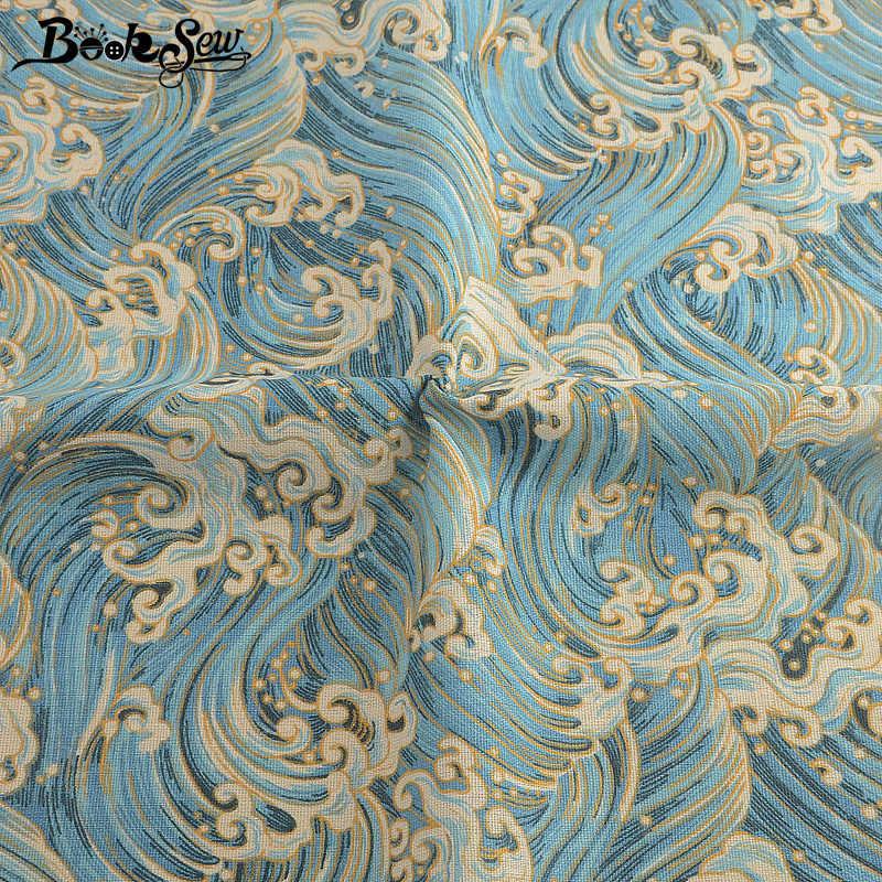 Booksew Tela Algodon Gedrukt Blauwe Golven Katoen Linnen Afrikaanse Ankara Stof Doek Zak Gordijn Tissu Tecidos De Patchwork Naaien