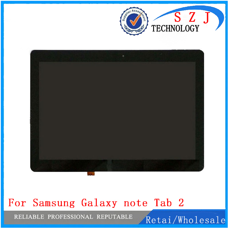 цена на New 10.1'' inch for Samsung Galaxy note Tab 2 10.1 P5100 P5110 LCD display+Touch Screen Digitizer Assembly free shipping