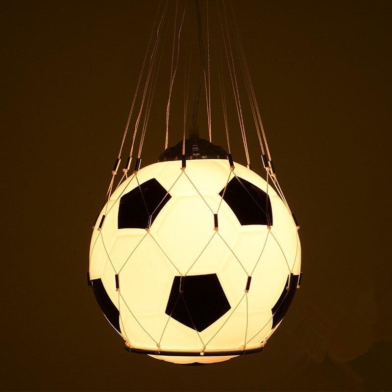 Lustre chambre enfant personnalité créative Football basket garçon fille dessin animé lampe chambre l'étude grenier lustre