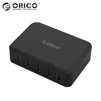 ORICO DCAP 5S 5 Port USB Charger 40W Smart Supercharger EU US UK Plug For Samsung