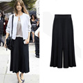 2016 new arrival Plus size XL-6XL Summer Women Wide Leg Loose Dress Pants Female Casual Skirt Trousers Capris Culottes