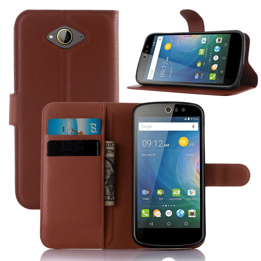 Luxury Lychee Print PU Leather <font><b>Case</b></font> For <font><b>Acer</b></font> <font><b>Liquid</b></font> <font><b>Z530</b></font> <font><b>Case</b></font> Flip Stand Wallet <font><b>Phone</b></font> Shell Back Cover With Card Holder