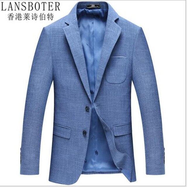 Jacken männer LANSBOTER Koreanische männer casual anzug frühjahr und herbst  einfarbig nicht fett junge mode Dünne 0e921e45bc