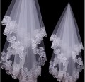Short One Layer Appliques Bridal Veil Wedding Accessories White Ivory Wedding Veils Cheap Price 2017