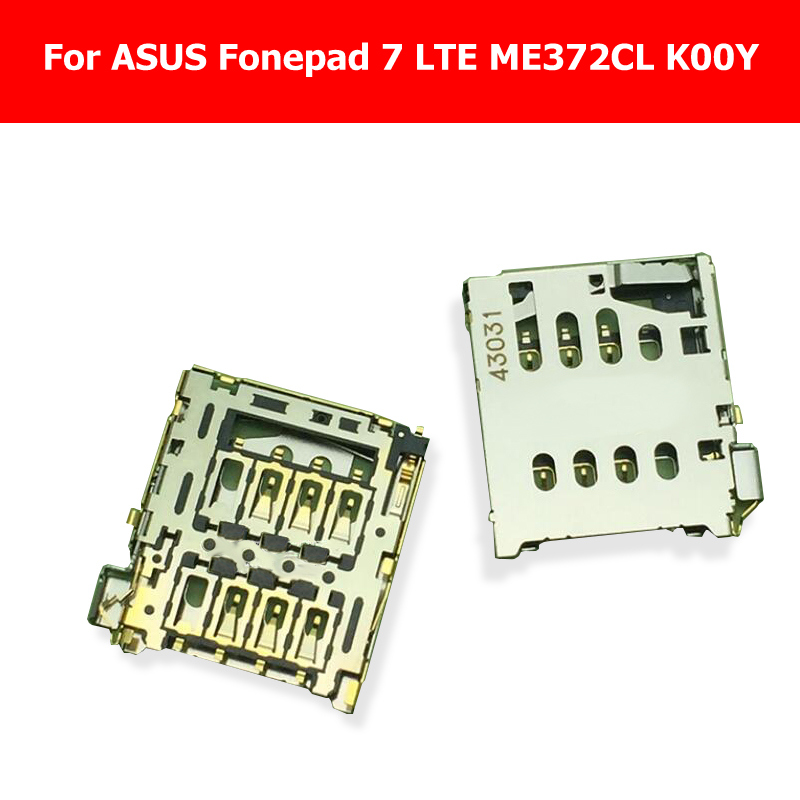 Genuine Sim Card tray For ASUS Fonepad 7 LTE ME372CL K00Y Sim card slot reader holder Connector tablet replacement