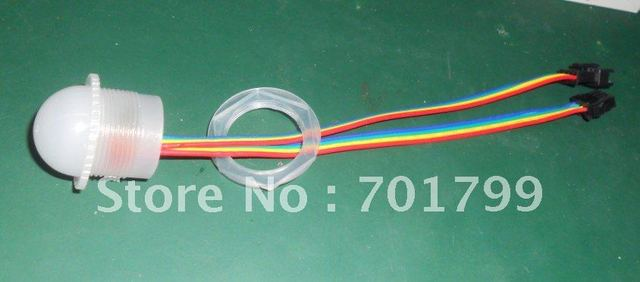 26mm diameter WS2801 LED pixel module;1pcs 5050 RGB SMD LED,DC5V input;IP68;frosted cover