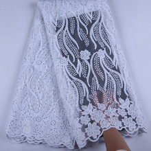 Pure White  African Lace Fabrics 2019 High Quality Lace Nigerian Tulle Lace Fabric Bride Milk Silk French Net Lace Fabric Y1535