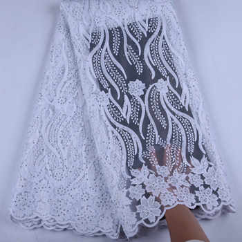 Pure White  African Lace Fabrics 2019 High Quality Lace Nigerian Tulle Lace Fabric Bride Milk Silk French Net Lace Fabric Y1535 - DISCOUNT ITEM  46% OFF All Category