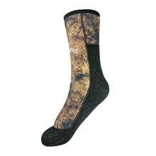 5 мм Камуфляжный из неопрена дайвинг носки Для мужчин Женский гидрокостюм ботинки для подводной охоты свободный Скуба дайвинг аксессуары