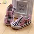 Children Causal Canvas Shoes Baby Boys Classic Plaid Sneakers Girls Brand Breathable Shoes Kids Slip-On Shoes C124