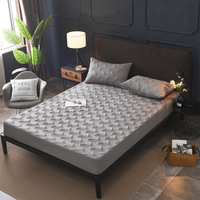 Jacquard Cotton All Inclusive Cover Detachable Anti Mite Mattress Bed Padded Quilted Bed Mattress Cover Non Slip Dust Soft Pad