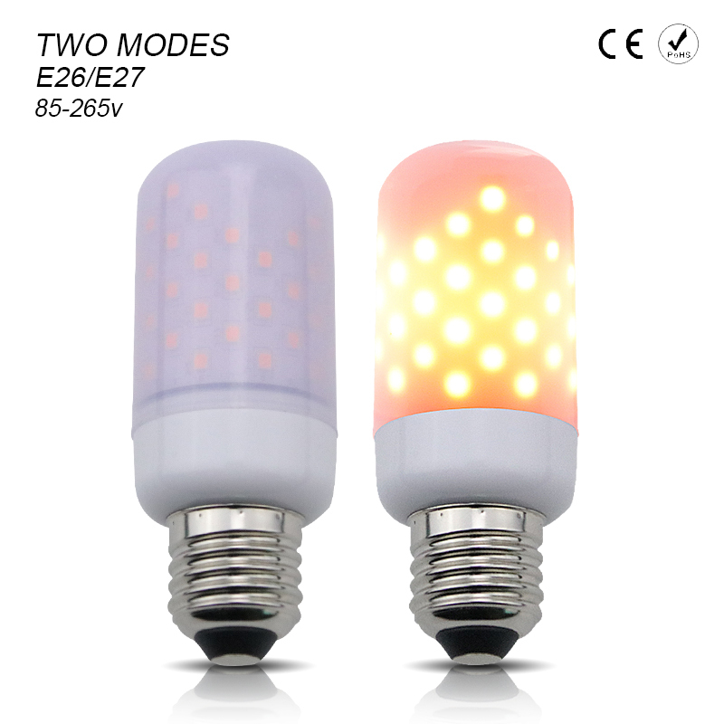 LED Lamp Flame Flicker Bulb Fire Effect E27 Corn Bulb 110V Energy Saving Bulb Lamp LED Light Home Decoration Lighting 220V 1300K