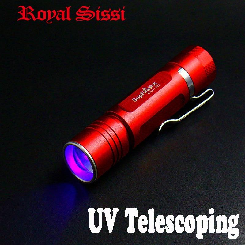 SupFire telescoping focusable UV power light LED flashlight fly tying exclusive-use UV lamp torch light cure&harden UV glues