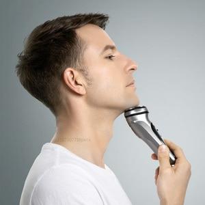 Image 3 - Youpin Enchen שחור אבן 3D חשמלי מכונת גילוח גוזם ראש חסימת הגנת תער רחיץ סוג C נטענת עבור גברים מתנה