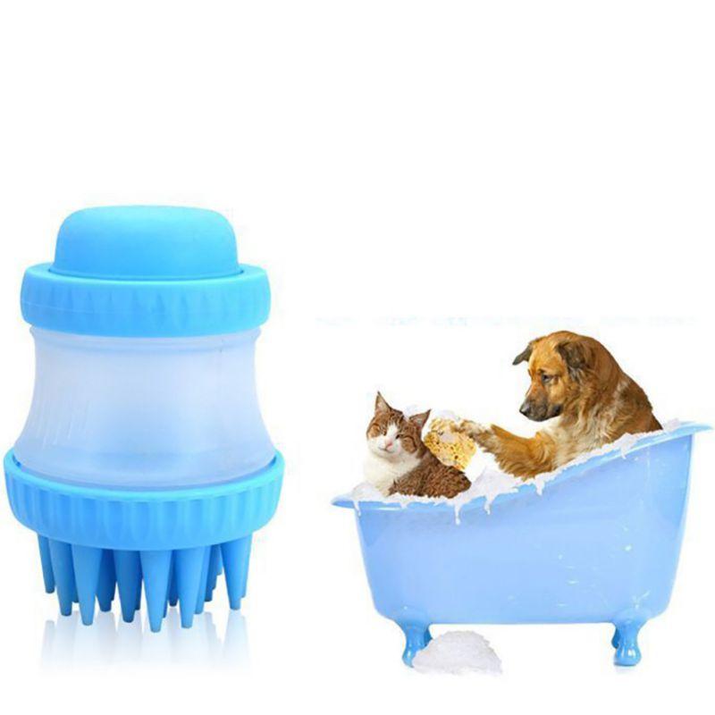 Новый Многофункциональный собака Ванна Массаж Pet Brush очистки Красота инструменты масс ...