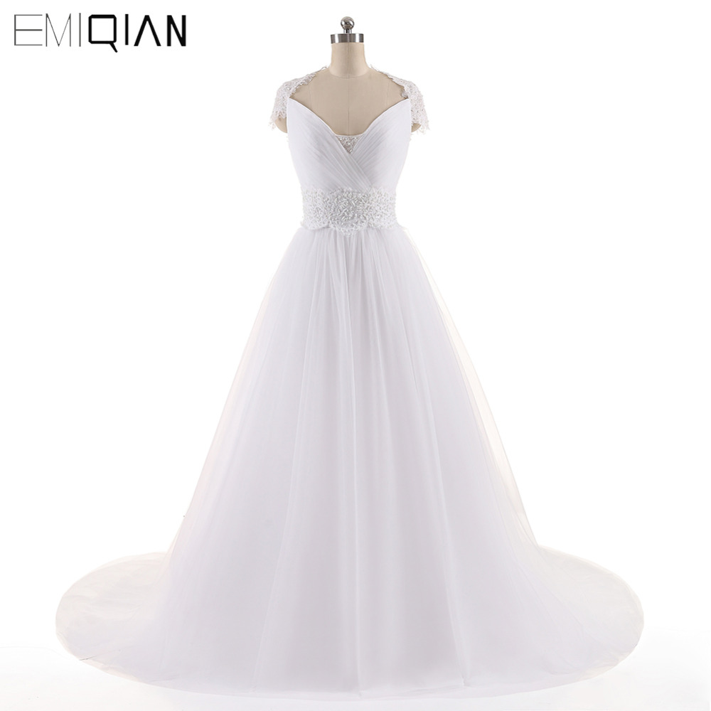 Cheap Elegant Wedding Dresses: Aliexpress.com : Buy Robe De Marige Cheap Elegant A Line V