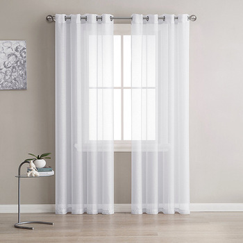 Europe solide blanc fil rideau fen tre Tulle rideaux pour salon cuisine moderne fen tre traitements