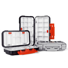 2019 NEW Fishing Tackle Box Waterproof Double Side Bait Lure Hooks Storage Boxes Carp Fly Fishing Accessories 12-30 Compartments цены онлайн