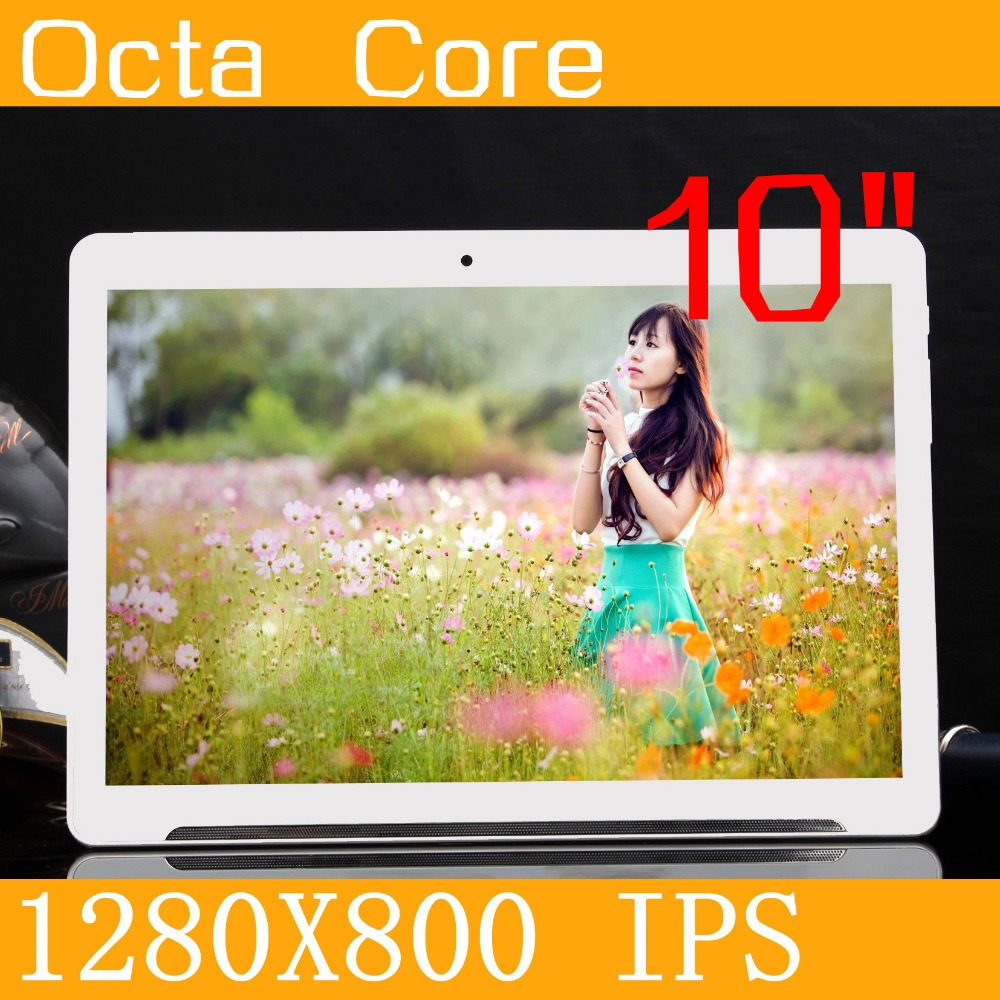 Android5 1 Tablet 10 IPS 1280 800 4GB 64GB MT6592 Octa Core Tablette Dual SIM Phone