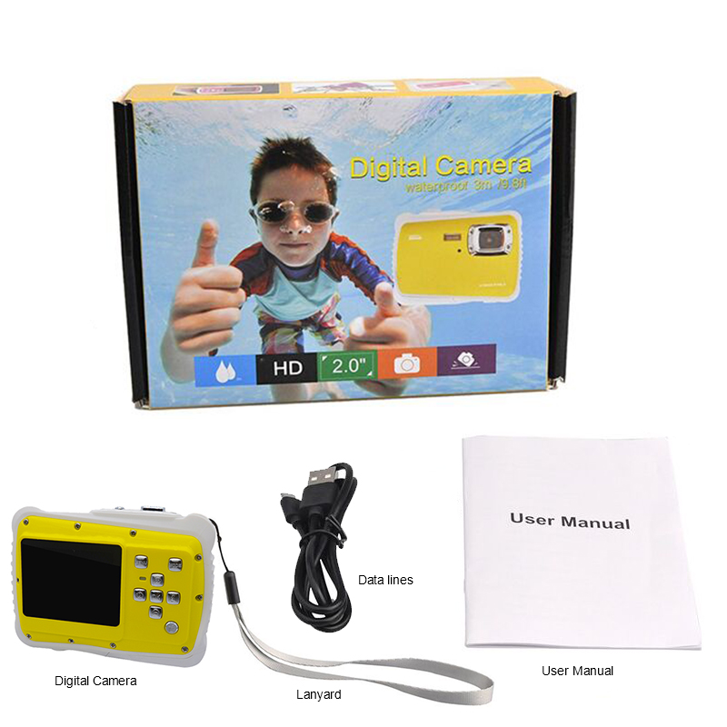 GEEKAM Waterproof 5MP 2.0 inch LCD HD Digital Camera Children Kids Birthday Gift Camera Sports Mini Camera For Children Swimming (2)