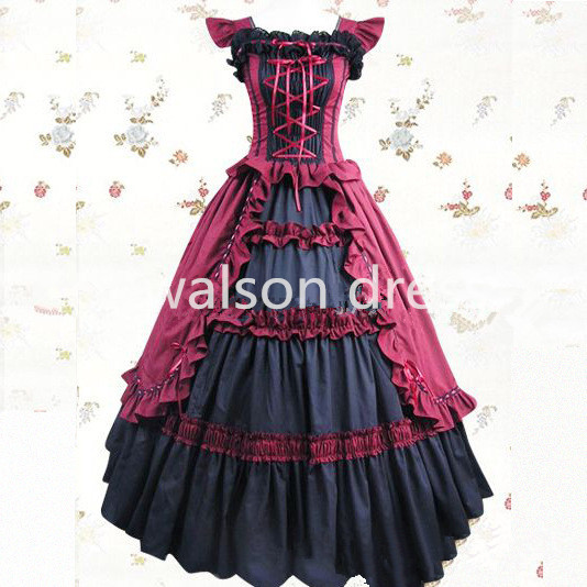 00b8075c54 Free shipping Halloween costumes for women adult southern belle costume  dress Ball Gown Gothic lolita dress plus size custom