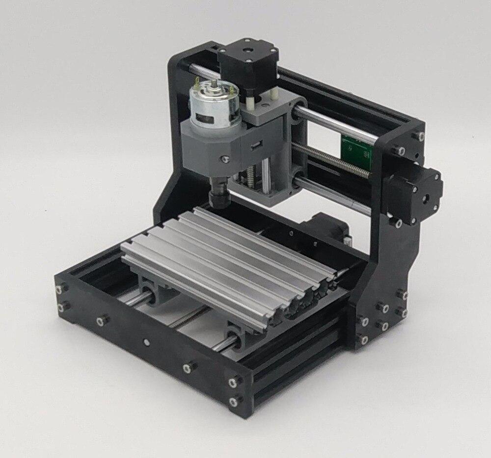 Bricolage 1610 Pro GRBL contrôle Mini Machine à CNC zone de travail 3 axes Pcb Pvc fraiseuse bois routeur axe moteur