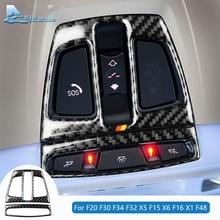 対気速度 bmw F20 F30 F34 F32 X5 F15 X6 F16 X1 F48 アクセサリー炭素繊維内装トリム車の読書ライトフレームステッカー