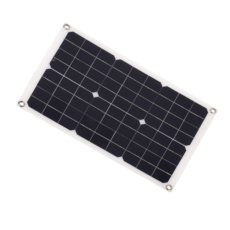 20w 18v Portable Solar cell Emergency Power Flexible Solar Panel For Motorhome Car Boats Roof 12V Battery Charger