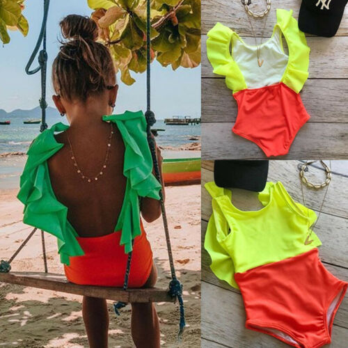 b3211fb985 6M-5T Toddler Swimwear Kids Baby Girls Backless Bikini Swimsuit Bathing Suit  Infant Baby Summer Beachwear ~ Top Deal June 2019