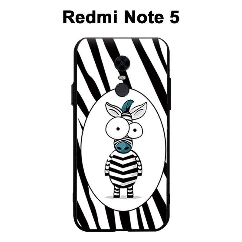 Xiaomi Redmi Note 5 Case Cover Black 3D Relief Case For