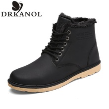 Men Shoes 2016 New Fashion Autumn Winter Ankle Boots British Style Men Martin Boots Casual High top Waterproof Male Snow Boots
